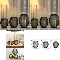 Led Candle Holders Decorative Bird Cages Weddings Black Meta