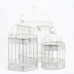 Richland Lettie Bird Cage - Antique White Set of 3 Decorativ