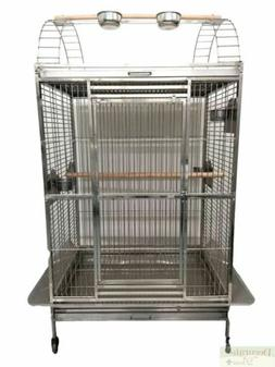 LG BIRD CAGE Play Top Stainless Steel Indoor Outdoor Parrot