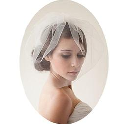 LLT_COLLECTION Birdcage Wedding Veils Short with Comb