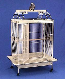 X Large Lodge Open Play Top Parrot Bird Wrought Iron Cage 36