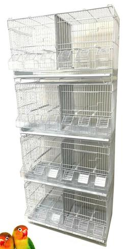 LOT 4 Stack & Lock Double Breeding Bird Flight Aviary Cages