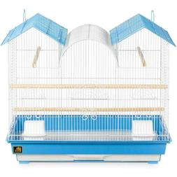 Lot of 2  PREVUE Triple Roof Bird Cage Brown & Off-White Com