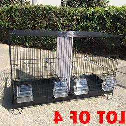 Lot of 4 Stackable Double Bird Breeding Flight Cages Divider
