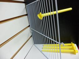 """Lot of 4 Yellow 7"""" Plastic Twist in Perches Bird Cages 2GR B"""