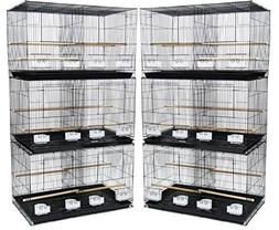 Lot of 6 Aviary Breeding Breeder Finch Parakeet Flight Bird