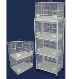 """Lot of 6 of Breeding Bird Cages 24x16x16""""H Whit With Stand W"""