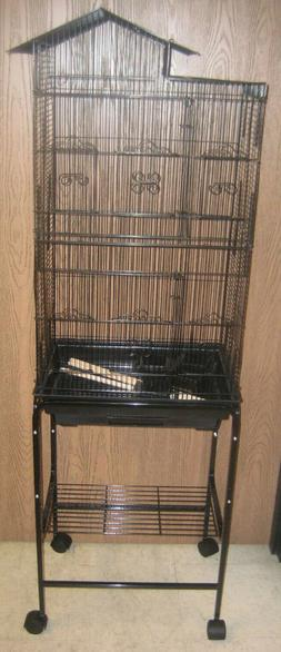 """Lot of Four 62"""" Large Bird Cage Stand Canary Parakeet Cockat"""