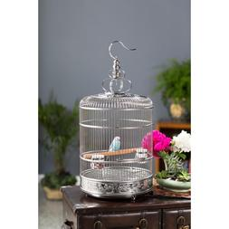 Lotus Stainless Steel Bird Cage Small Bird Elegant Silverton