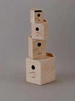 Lovebird Nest Box Wood