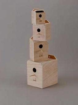 Lovebird Nest Box Wood