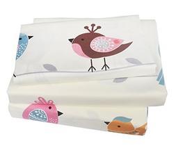J-pinno Kids Boy Girl Lovely Birds Chicken 100% Cotton 210 T