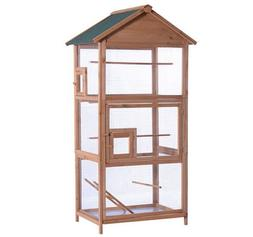 """Lovupet 70"""" Outdoor Aviary Bird Cage Wood Vertical Play Hous"""