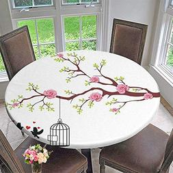 Mikihome Luxury Round Table Cloth for Home use Decor Blossom