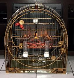 Luxury WOOD BIRDS Cage CANARY AS CURIOS, BICUDO Tomeguin Fin