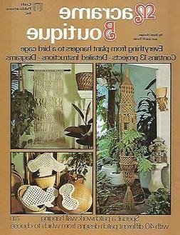 Macrame Boutique Vintage Pattern Instruction Book 1976 Bird