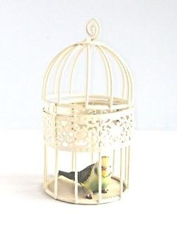 MEDIUM BIRD CAGE IN IVORY - PARTY FAVOUR FOR WEDDING DECOR -