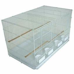 Medium Breeding Birdcages Cage With Divider, 30 X 18 White P