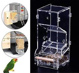 Ymachray No Mess Bird Feeder Parrot Feeder Seed Food Contain