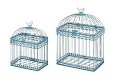 Deco 79 Metal Acrylic Rectangular Bird Cage, 16 by 12-Inch,