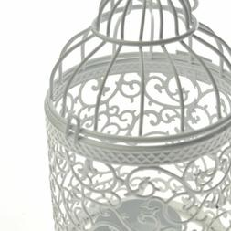 Metal Bird Cage Hollow Candle Holder Tealight Candlestick in