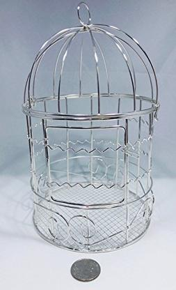 Ben Collection Small Metal Bird Cages for Wedding Favors, Pa