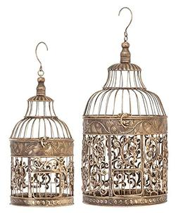 Deco 79 Metal Birdcages, 20-Inch and 15-Inch, Set of 2