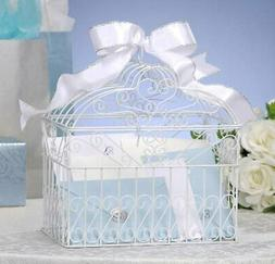Darice Metal Bridal Birdcage Card Holder White, New