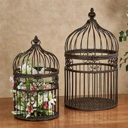 Touch of Class Metal Decorative Birdcages Bronze Set of Two