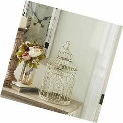 Deco 79 Metal Wall Hanging Bird Cage, 22-Inch and 18-Inch, S
