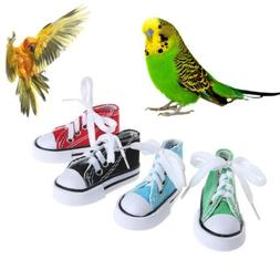 Mini Canvas Shoes Bird Toys Chew Bite Decoration Hanging Cag