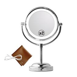 Mirror With Lights - MY CANARY LED Makeup Mirror With Batter