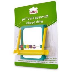 mirrored bead bird toy