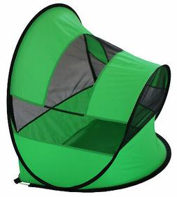 Modern Curved Collapsible Outdoor Pet Tent, Green, One Size