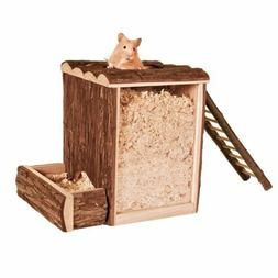 TRIXIE Mouse Hamster Gerbil Play & Burrow Tower Wood House B