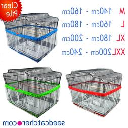 Multi Colour Size, Bird Cage Seed Catcher Guard Tidy Pile Fa