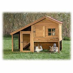 Trixie Natura Two Story Sloped Roof Rabbit Hutch with Run, 5