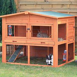 Trixie Natura XL Two Story Rabbit Hutch with Outdoor Run, 53