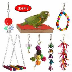 Natural Bird Cage Toys for Small and Medium Birds