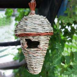 Natural Hanging Birds Hut Finch Nest Bed Hummingbird Outdoor