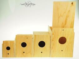 Nesting Breeding Brooding Bird House Boxes Outdoor Indoor Fi
