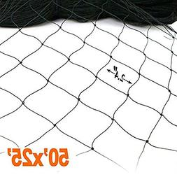 25' X 50' Net Netting for Bird Poultry Aviary Game Pens New