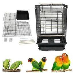 "New 23"" Bird Cage Pet Supplies Metal Cage Cages with Open Pl"