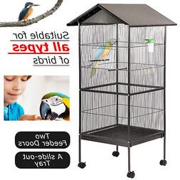 "New 61"" Large Parrot Bird Cage Play Top Pet Supplies,Perch S"