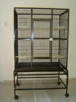 "New Bird Parrot Cage 32Lx20Wx53H Bar Spacing 3/8"" Cockatiel"