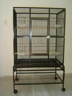 "New Bird Parrot Cage 32Lx20Wx53H Bar Spacing 3/8"" Cockatiel"