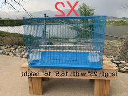 New Blue Bird Cage x2 TWO CAGES For Parakeet Finches Canary