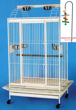 Large Bird Parrot Open Play Top For Cockatiel Macaw Finch Co