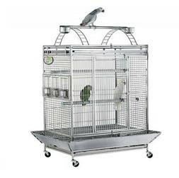 NEW LARGE STAINLESS STEEL PARROT/BIRD CAGE