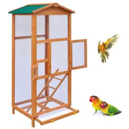 New Large Wood Aviary Outdoor Large Bird Cage Small Animal H